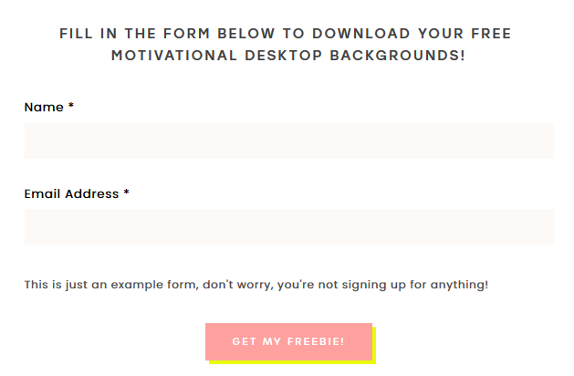 insert opt-in freebie for a higher conversion rate of your email newsletter