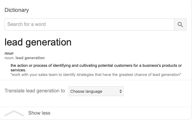 Google- Lead Generation