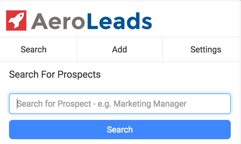 Aeroleads search-for-prospects