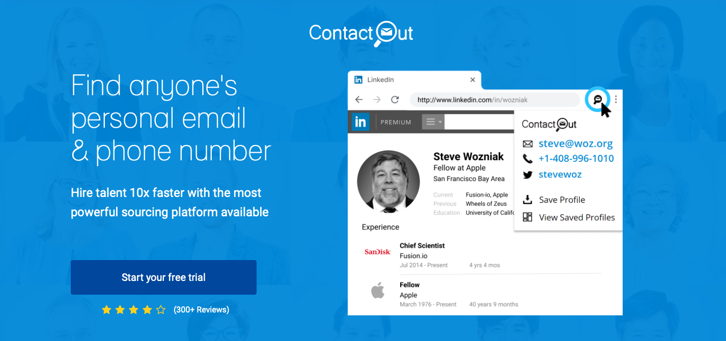 ContactOut find emails from linkedin