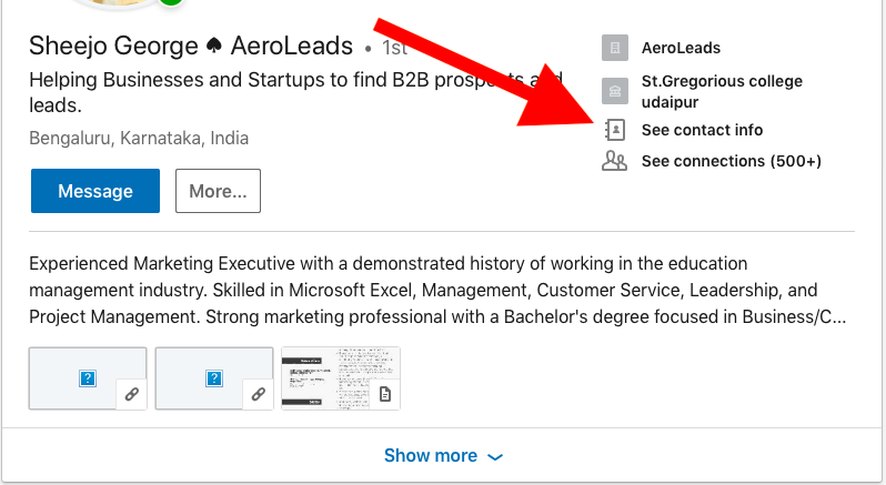 LinkedIn-Contact-Details - AeroLeads Blog