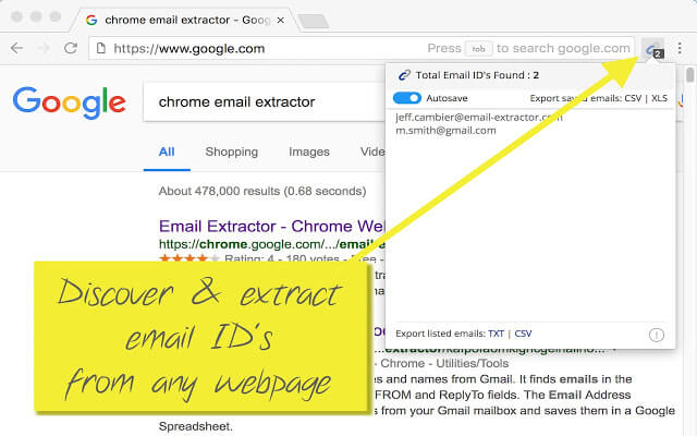 List of 5 Email Extractor Chrome Plugin