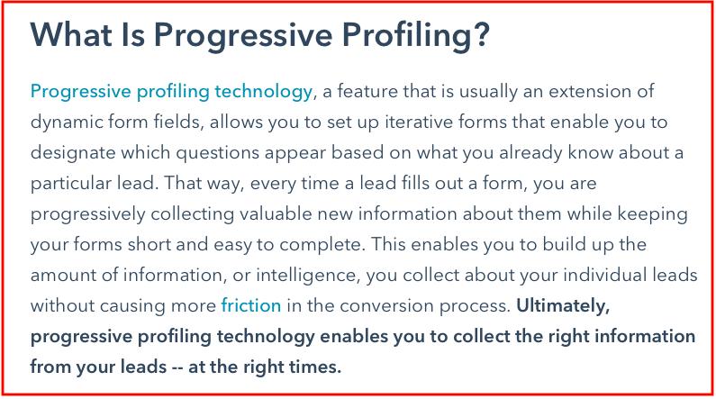 what is Progressive-Profiling