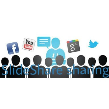 Slideshare sharing on social media Aeroleads.com