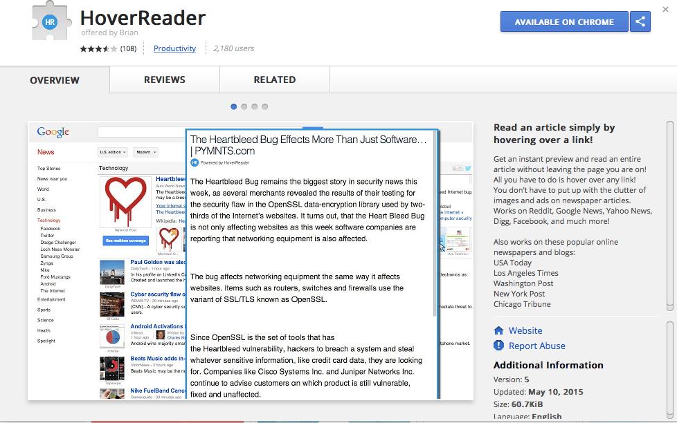 Hover Reader