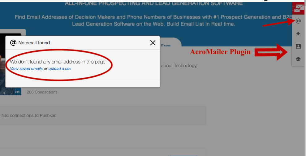 AeroMailer email search