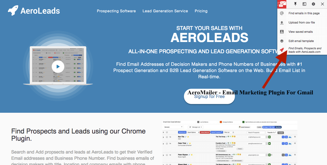AeroMailer Email Marketing Plugin for Gmail 2