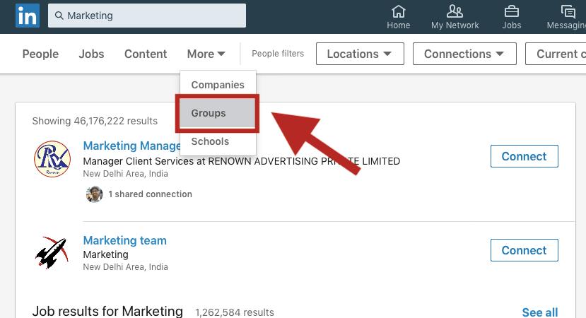 Marketing Groups LinkedIn