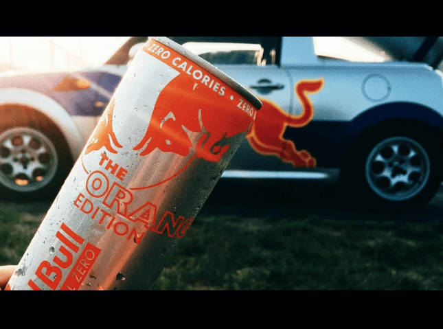 Red Bull put in a can