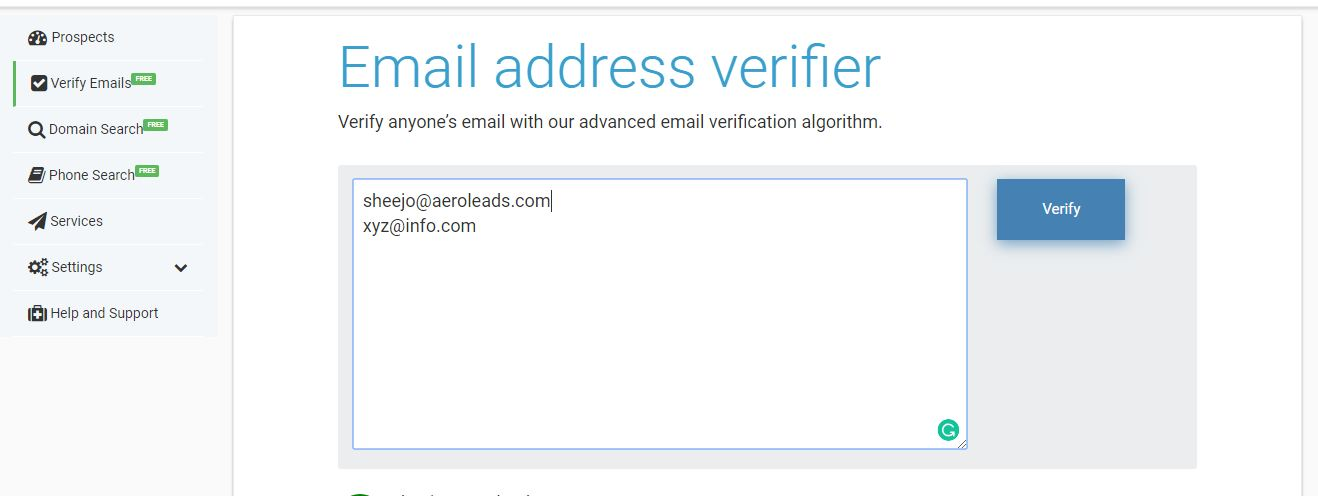 Verify business emails
