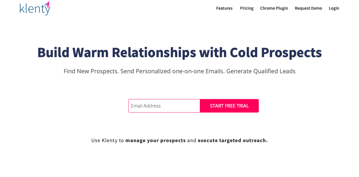 Klenty relationship with cold prospects