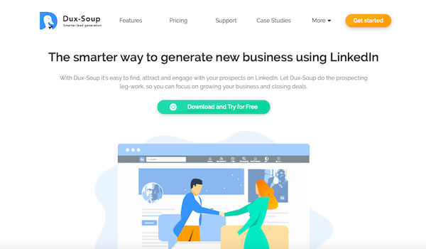 Dux-Soup generate new business email finder