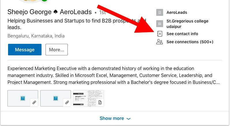 LinkedIn-Contact-Details • AeroLeads Blog