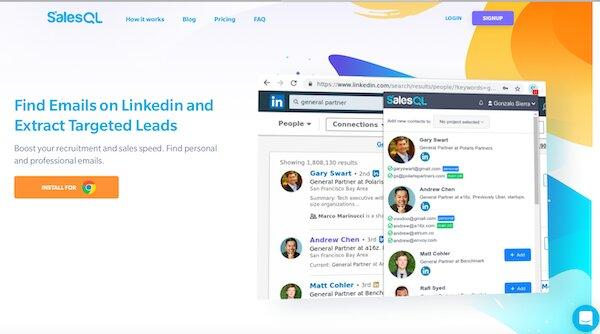 Find emails on linkedin