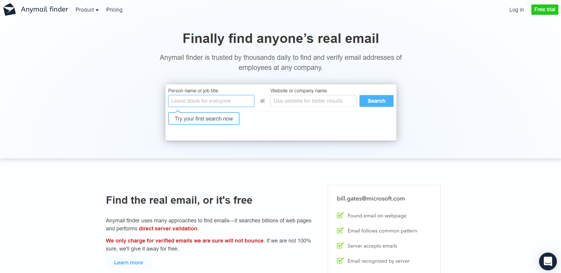 anymail finder - lead generation tool