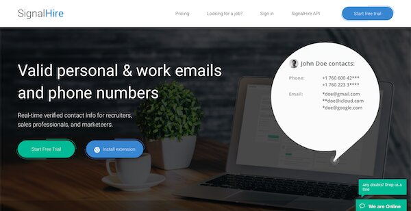 signal hire email finder