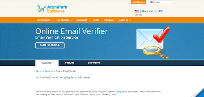 AtomPark email verifier