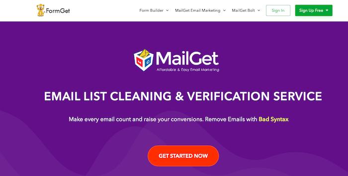 FormGet email verifier