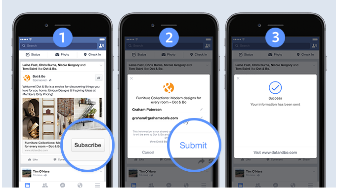 mobile tap for facebook lead generation