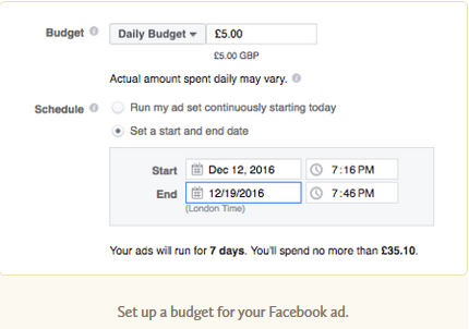 set the right budget for facebook lead ads