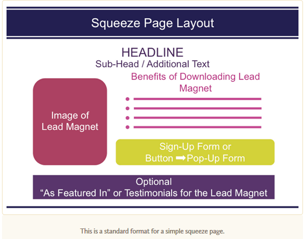 add a squeeze page for lead generation