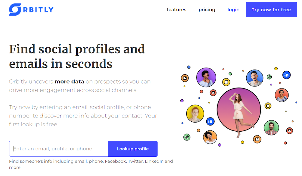 orbitly find social profiles and emails in seconds
