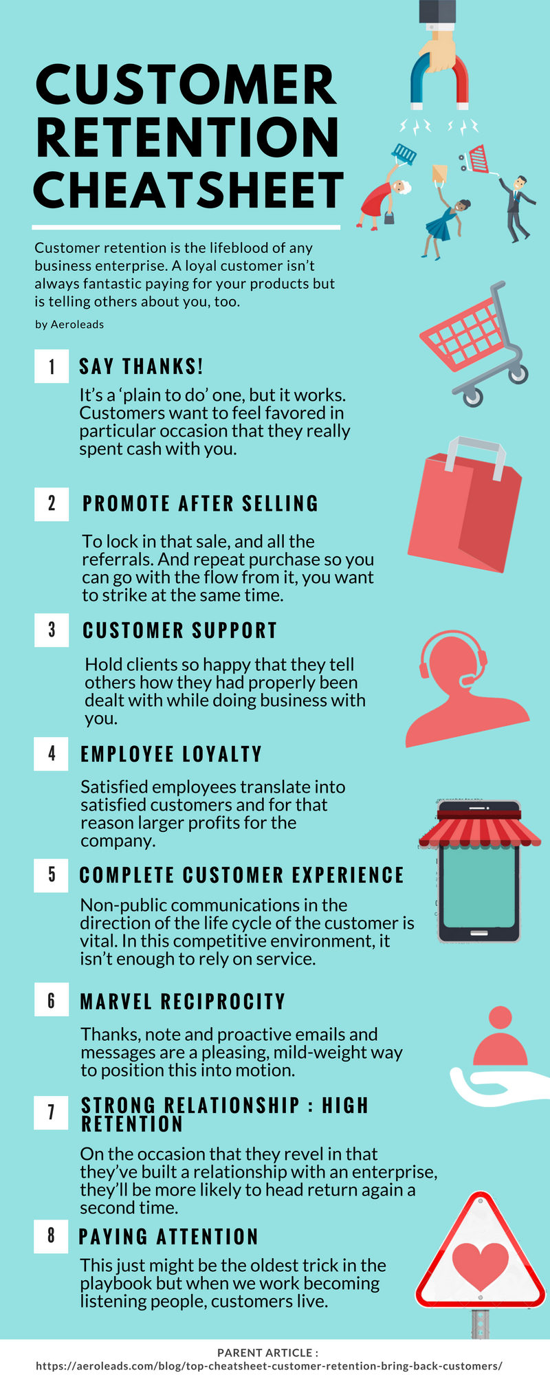 customer retention cheatsheet infographics