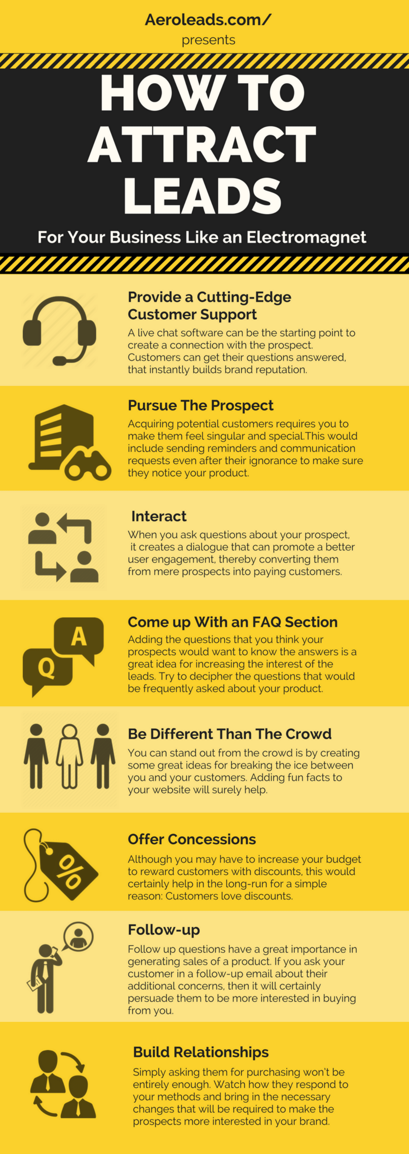 how to attract leads infographics
