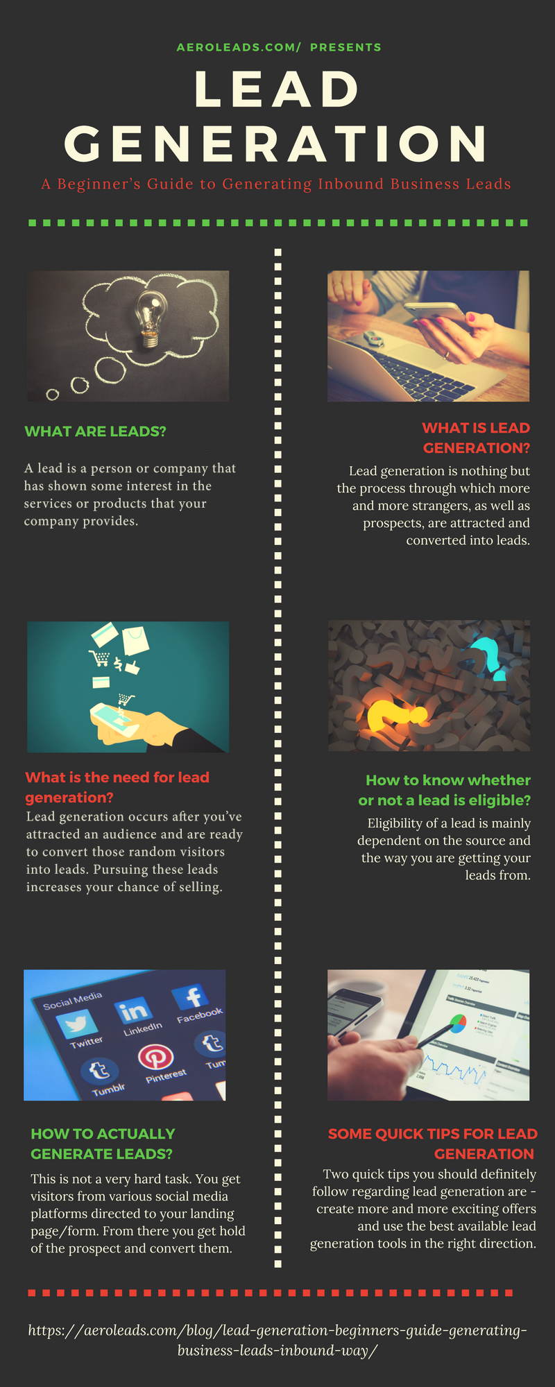 lead generation guide infographics